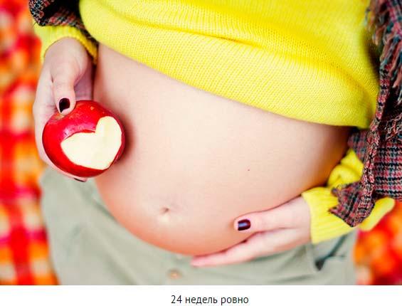Животики на 24 неделе беременности