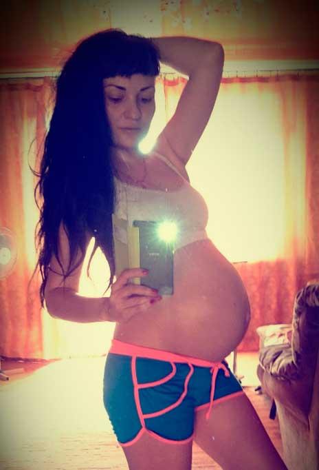 Фото животика на 33 неделе беременности