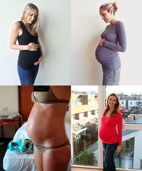 Фото животиков на седьмом месяце беременности